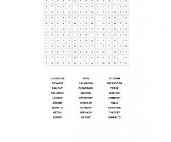 Phrasal Verbs Word Search