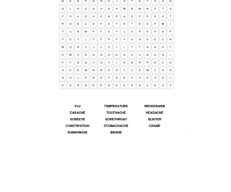Aches and Pains Word Search