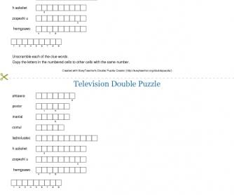 Television Double Puzzle