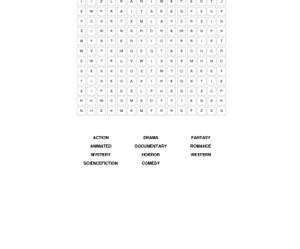 Movies Word Search