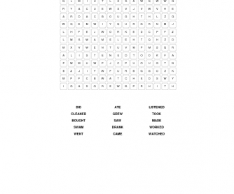 I Know What You Did: Past Simple Word Search