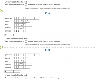 Flat Double Puzzle