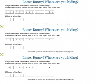 Easter Bunny! Where are you hiding?