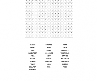 Food Word Search 3