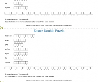 Easter Double Puzzle