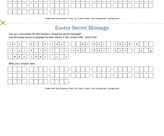 Easter Secret Message