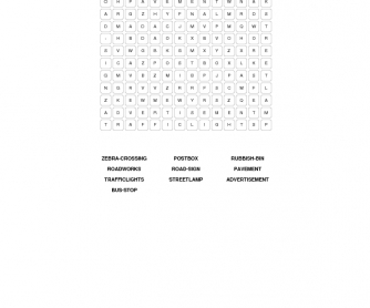 Urban Landscapes Word Search