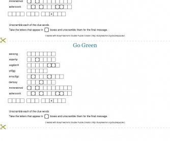 Go Green Double Puzzle