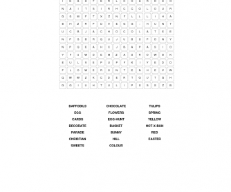 Elementary Easter Word Search (British)