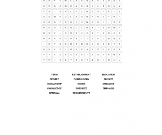 Education Word Search