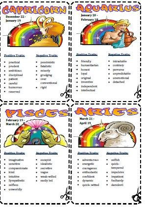 zodiac signs and attributes