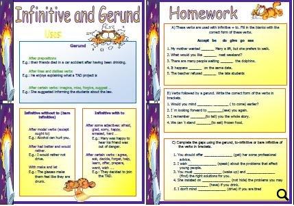 and Gerund Worksheet