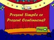 Present simple present continuous test