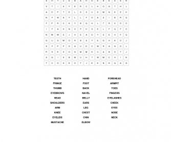 The Body: Word Search Puzzle