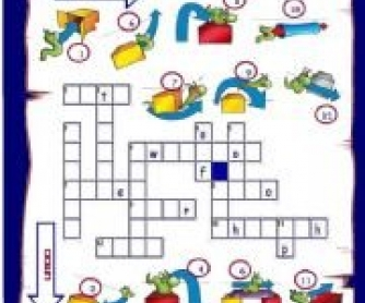 Prepositions of Movement: Picture Crossword