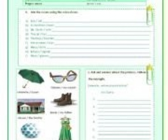 Possessive Case Worksheet