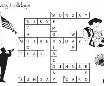May Holidays Worksheet