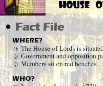 Culture: The House of Lords