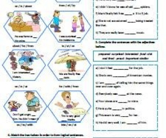 Adjectives + Preposition Worksheet