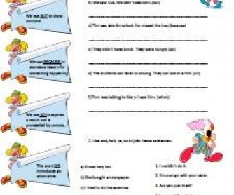 Linking Words Worksheet 2