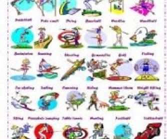 40 Sports Worksheet