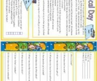 Daily Routines - Reading Worksheet
