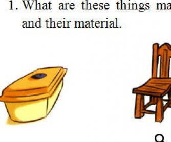 Materials Worksheet