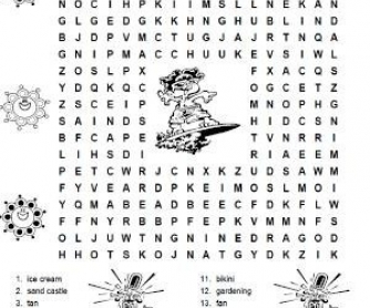 Summer Wordsearch Puzzle