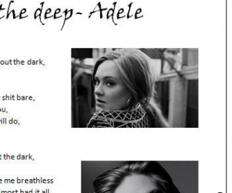 Song Worksheet: Rolling in the Deep by Adele [WITH VIDEO]