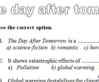 Movie Worksheet: The Day After Tomorrow