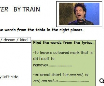 Song Worksheet: Hey Soul Sister by Train [WITH VIDEO] Alternative