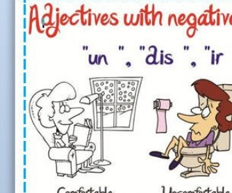 Adjectives With Negatives Prefixes Nº1