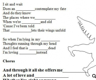 Song Worksheet: Angels by Robbie Williams [WITH VIDEO] Alternative