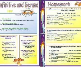 Infinitive and Gerund Worksheet