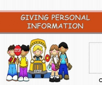 Giving Personal Information [POWERPOINT]