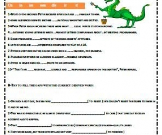 Word Formation Worksheet