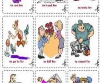 Phrasal Verbs with For and On [Flashcards]