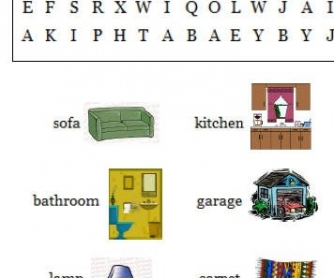 House And Furniture Wordsearch