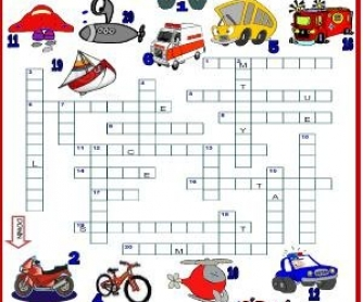 Means of Transport: Picture Crossword
