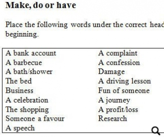 Do & Make & Have Collocations