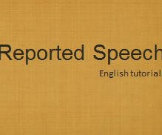 Reported Speech with Paper People (PPT, oral activity)