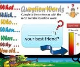 Wh-question Words PowerPoint