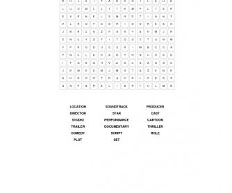 Film Vocabulary Puzzle