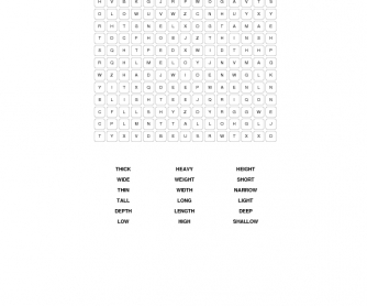 Measures Word Search