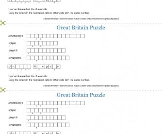 Great Britain Puzzle