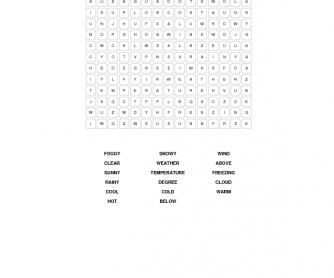 Weather Word Search 3