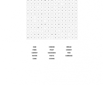 Food Word Search 4