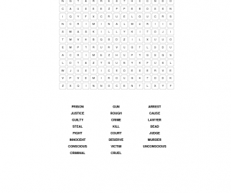 Crime and Punishment Wordsearch 2