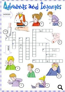 ailments injuries and diseases picture crossword. Black Bedroom Furniture Sets. Home Design Ideas