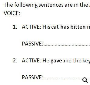 Passive Voice Worksheet [Mixed Tenses]